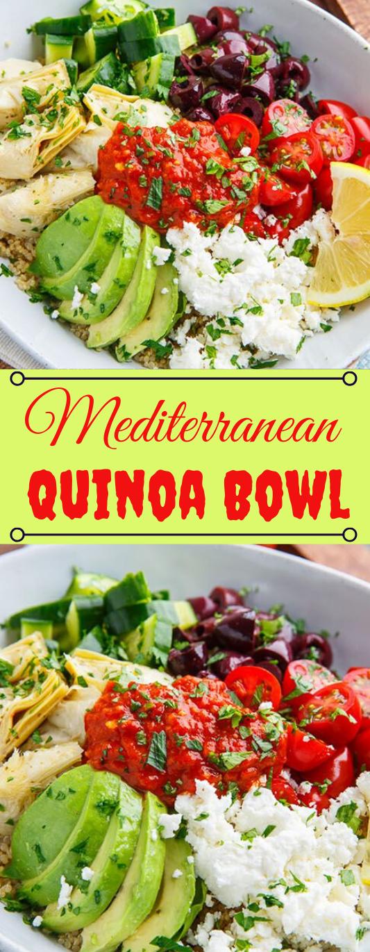 Mediterranean Quinoa Bowls with Romesco Sauce #healthydiet #quinoa #bowls #mediterranean #paleo