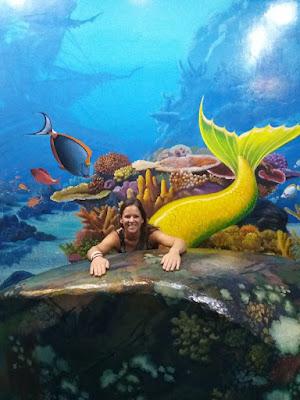 Splashpacker or sea mermaid in 3D arts museum in Langkawi