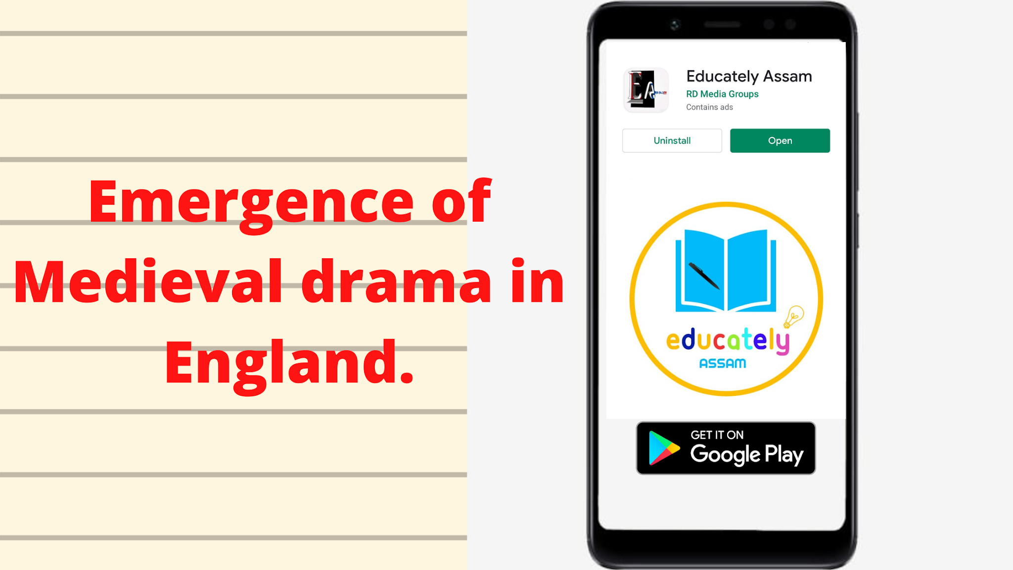 Write a note on the emergence of medieval drama in England