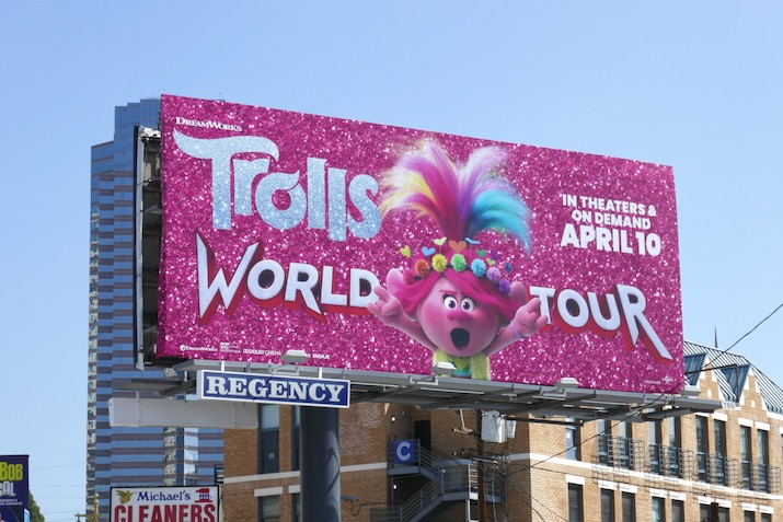 Trolls World Tour Poppy billboard