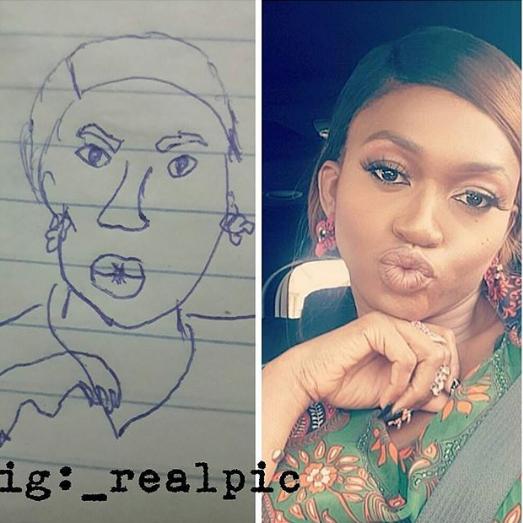 Waje reacts to hilarious fan drawing