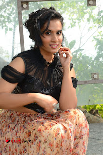 Actress Chetana Uttej Stills in Floral Long Skirt at Pichiga Nachav Movie Press Meet  0062.JPG