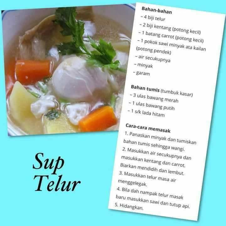 resepi sup telur
