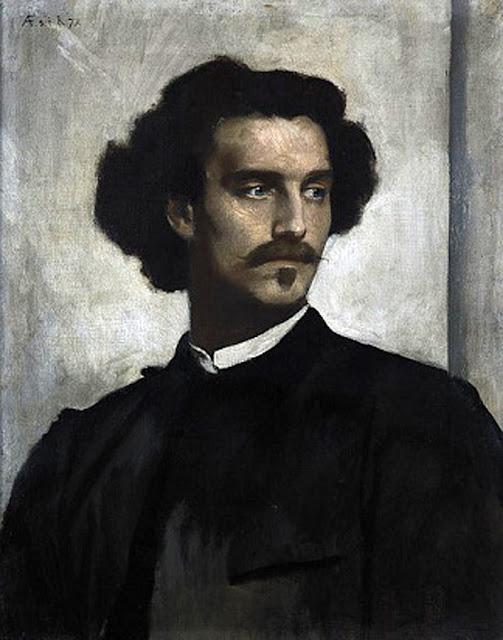 Anselm Feuerbach, Self Portrait, Portraits of Painters, Fine arts