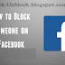 Block Friend Facebook