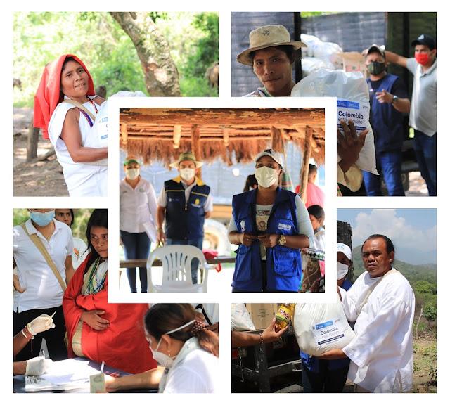 Alcalde de Riohacha llevó ayudas a 400 familias de la Sierra Nevada