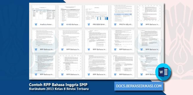 Contoh RPP Bahasa Inggris SMP Kurikulum 2013 Kelas 8 Revisi 2019-2020