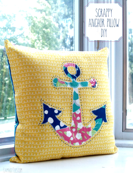 diy nautical anchor pillow tutorial