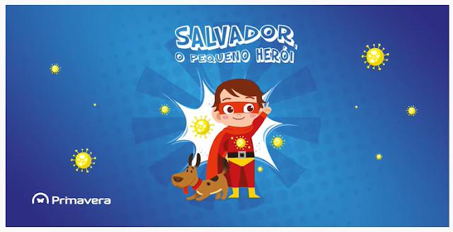 """Iniciativa solidária Primavera - Livro infantil """"Salvador, o pequeno herói"""" ajuda na luta contra a pandemia"""