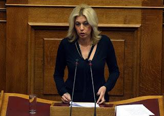 Σκληρή κριτική στην Κυβέρνηση και στα μέτρα που φέρνει προς ψήφιση, άσκησε η Άννα Καραμανλή