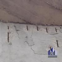 Corrosión de  acero de refuerzo en muro