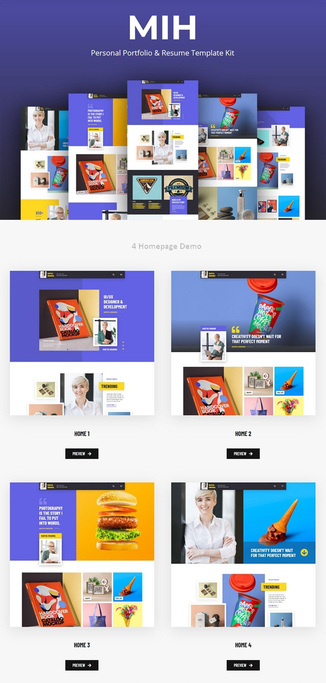 Personal Portfolio & Resume Template Kit