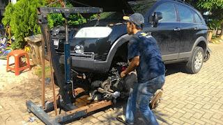 Penyebab turun mesin karena linier ngantong pada mobil Captva diesel.