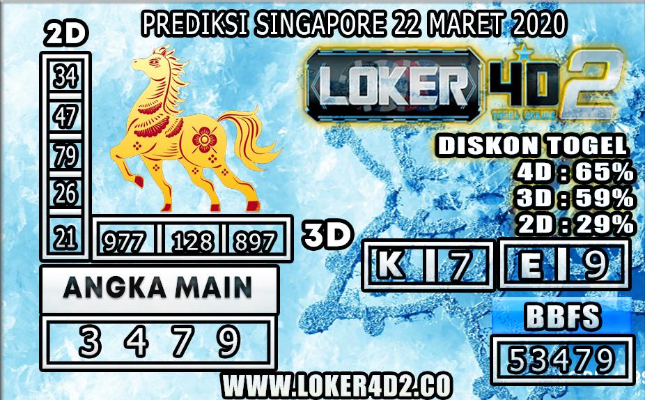 PREDIKSI TOGEL SINGAPORE LOKER 4D2 22 MARET 2020