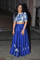 Regina Casandra in Stunning White Embroidery Crop Top Choli and Blue Ghagra at Santosham awards 2017 curtain raiser press meet 02.08.2017 014.JPG