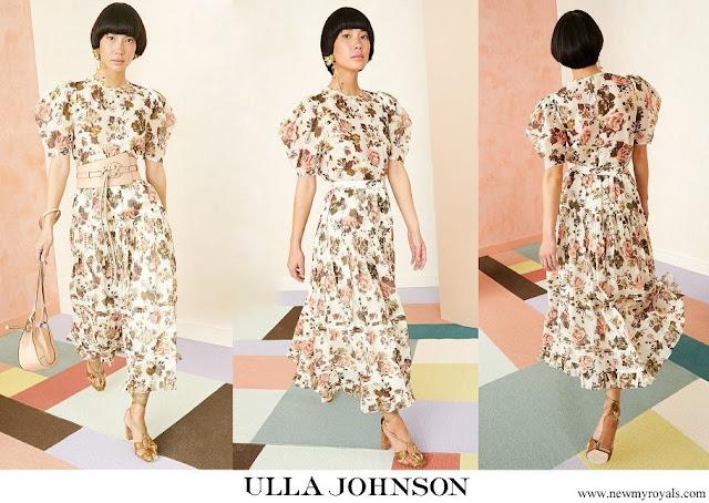 Crown Princess Victoria wore Ulla Johnson Eugenie dress