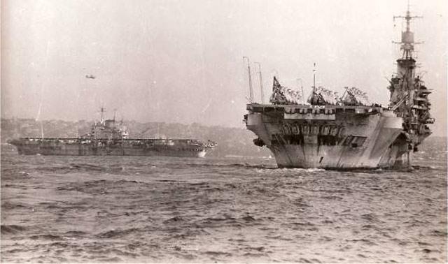 Aircraft carriers of the British Pacific Fleet during World War II worldwartwo.filminspector.com