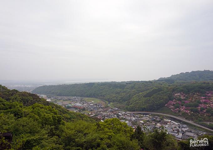 Vue depuis le haut du Yûtoku Inari, Saga