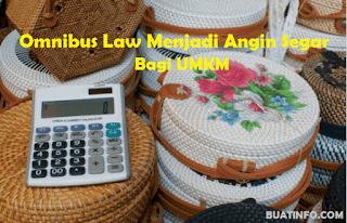 Buat Info - Omnibus Law Memberikan Angin Segar Untuk Klaster UMKM