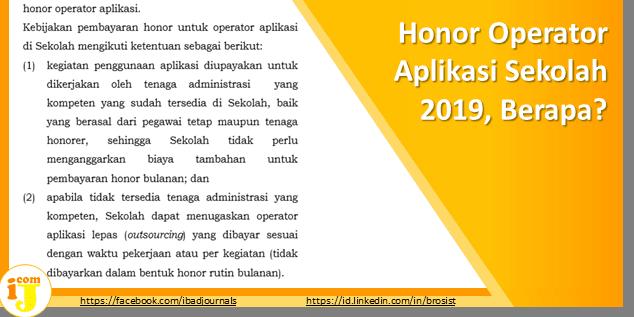 Honor Operator Aplikasi Sekolah 2019, Berapa?