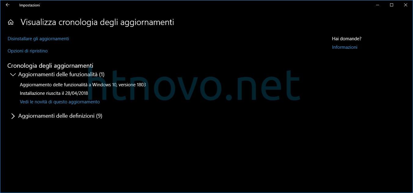 cosa-aggiornamento-delle-funzionalita-a-windows-10-versione-1803