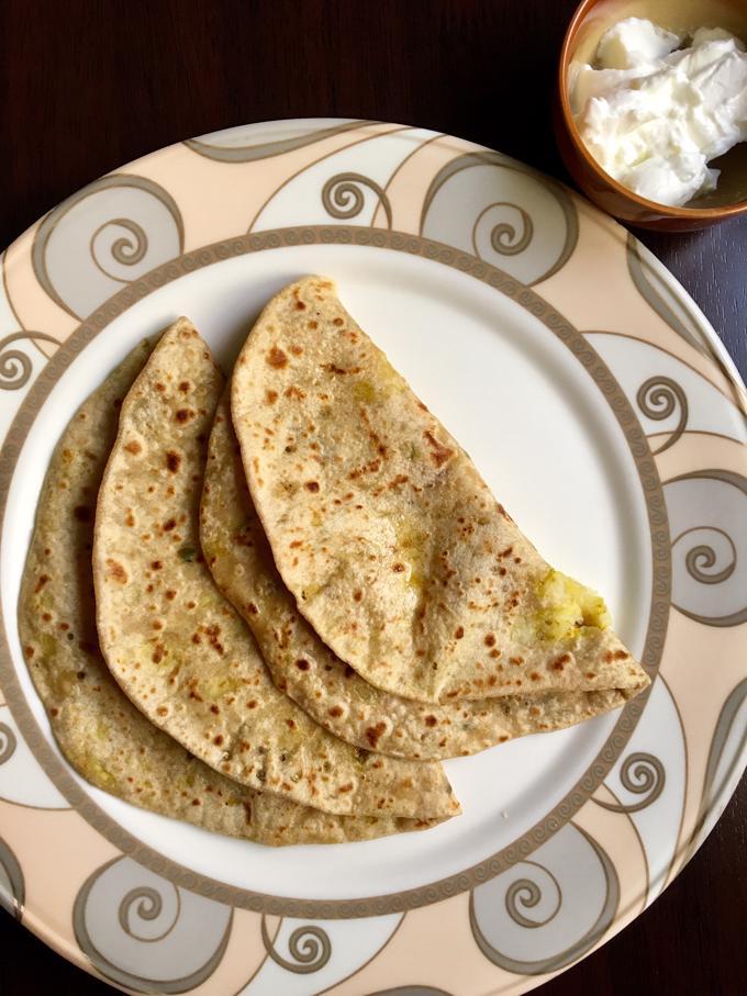 Aloo Paratha | Potato & Fenugreek Leaves Stuffed Flat Bread