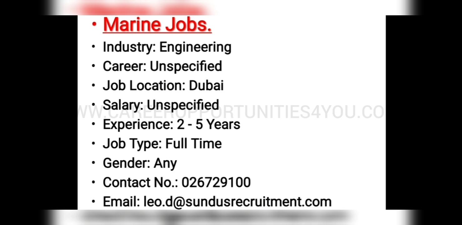 NEW JOB UPDATES IN DUBAI - APPLY TODAY - Career