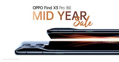 OPPO Find X3 Pro 5G Mid Year Sale ลดแรงยิ่งใหญ่กลางปี! กับสมาร์ทโฟนแฟล็กชิพที่สุดแห่งพันล้านสี ด้วยส่วนลดสูงสุด 18,000 บาท!