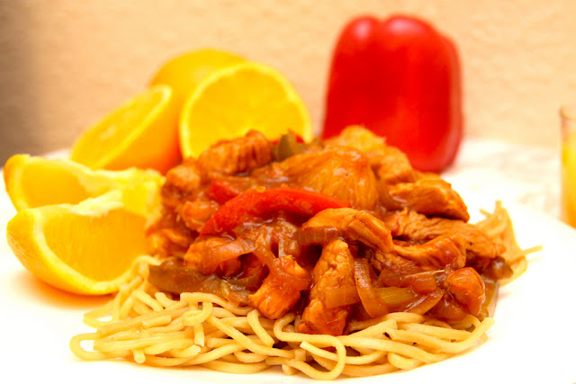 Stir fry z kurczakiem i pomarańczami
