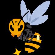 怖い蜂のイラスト