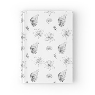 flowers, leaves and seeds hardcover journal