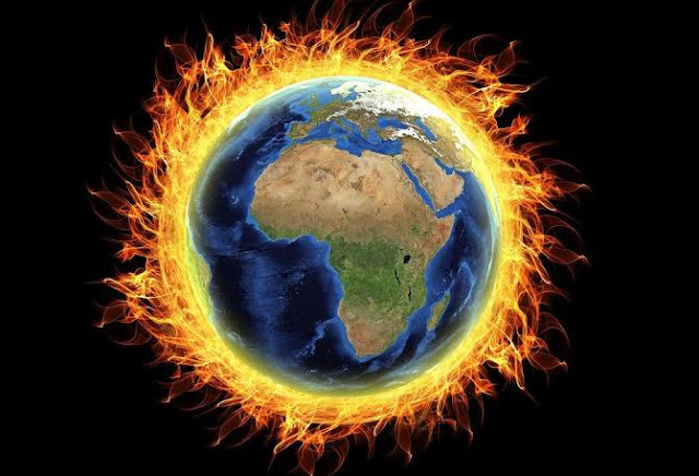 Earth burning due to global warming autocurious
