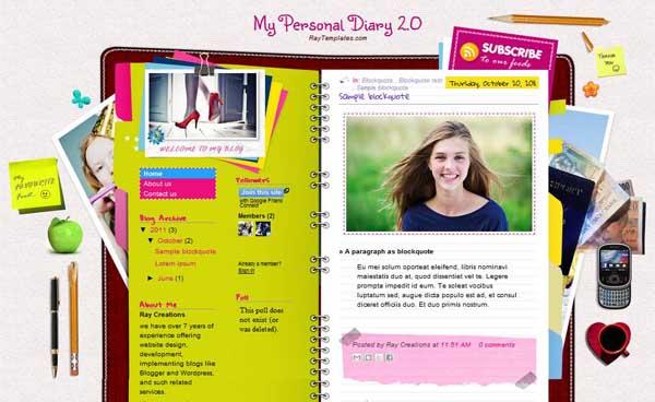 Joyful fashion blogger template free download.