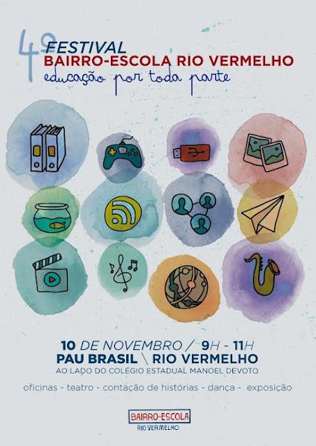 Dia 10 tem estival Bairro-Escola Rio Vermelho