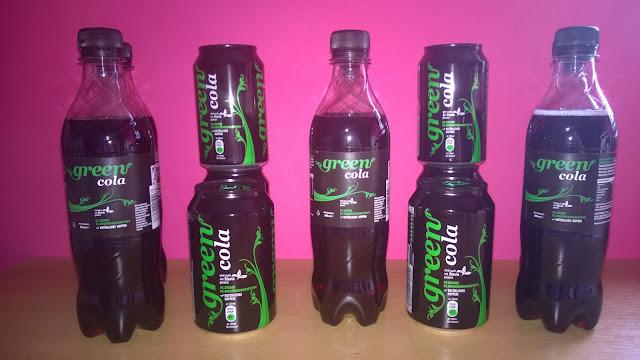 Green Cola in Flasche und in der Dose.