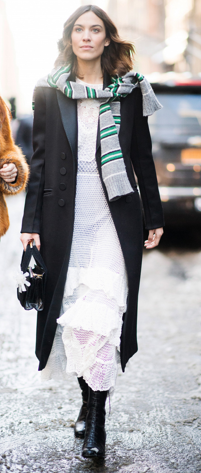 Alexa Chung Winter Outfit