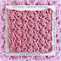 free crochet patterns, clusters, v-stitch, how to crochet,