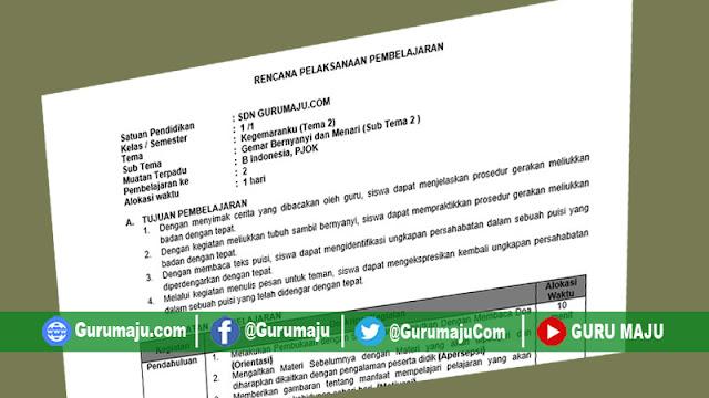 RPP 1 Lembar Kelas 1 Semester 1 Tema 2 K13 Revisi 2021