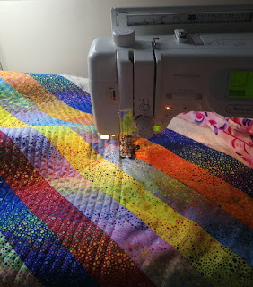 Quilting spirals using the walking foot