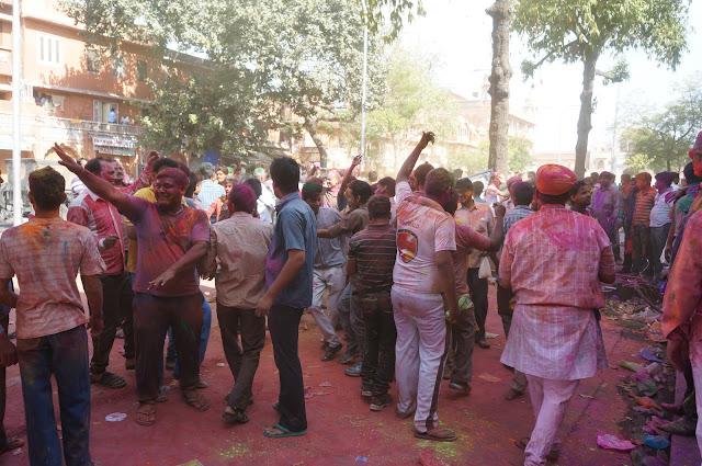 Kemeriahan Festival Holi di Jaipur, India