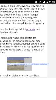 Pengaturan image untuk blogger