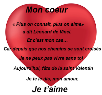saint valentin 2018 message