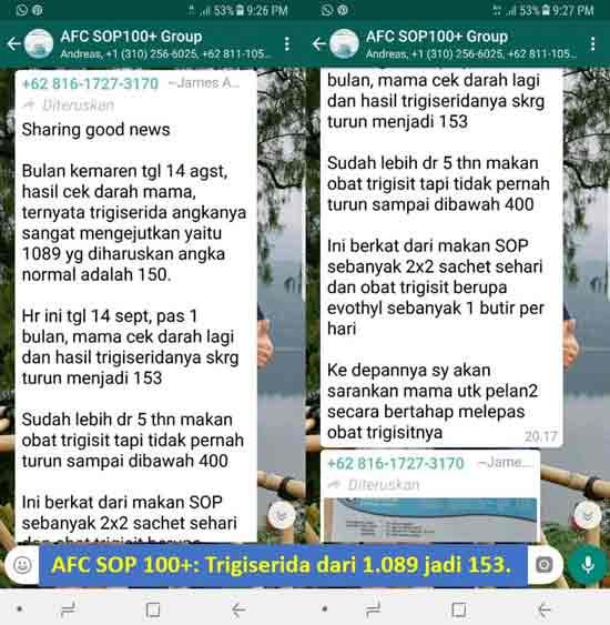 Agen Jual: AFC SOP 100+, SOP 100 Salmon dan Utsukushhii Jerawat, di Tanjung Pinang