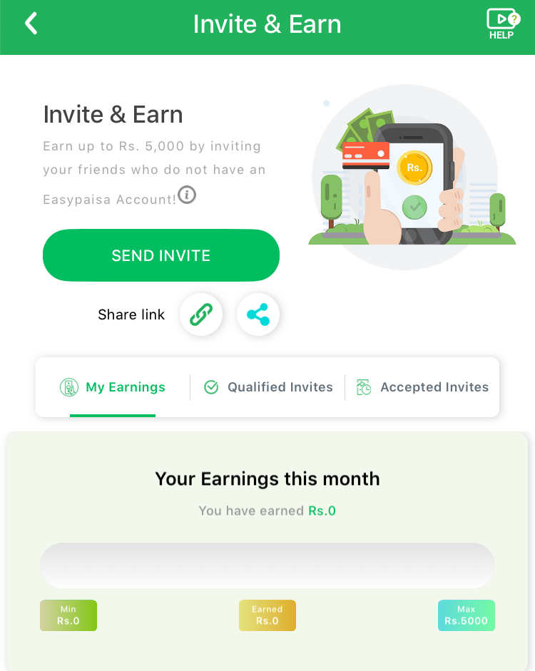 Invite Friends And Earn On Easypaisa Account