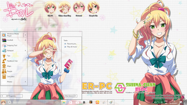 Windows 10 Ver. 1709 Theme Hajimete no Gal by Enji Riz