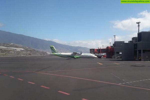 Binter para temporalmente la operativa de mañana con La Palma al empeorar la nube de cenizas