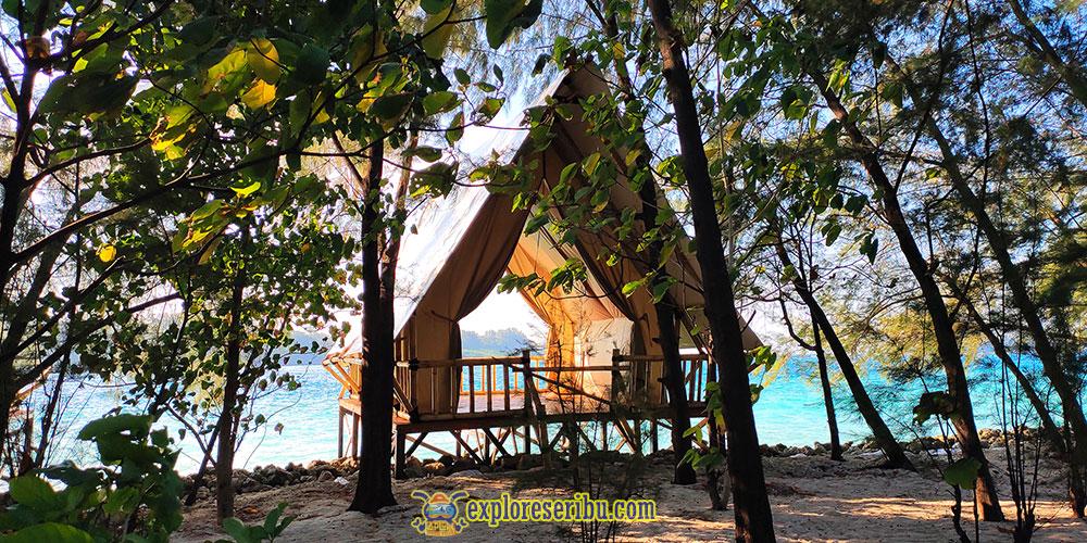 saung tenda di pulau dolphin