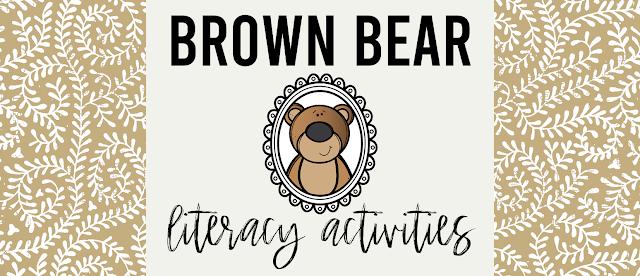 Brown Bear book study companion activities and craftivity K-1