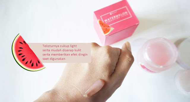 Tekstur Watermelon Hydrating Juice seperti gel tapi cukup light