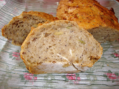 Rebana de pan de centeno y multisemillas
